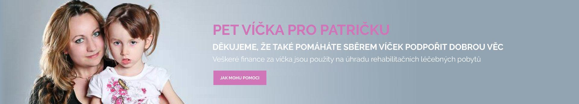 Banner Víčka pro Patričku